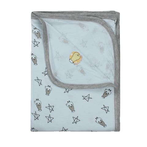 Single Layer Blanket Blue Small Star & Sheepz Large