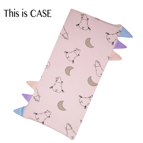 Bed-Time Buddy Case Pink Small Moon & Sheepz with color tag Small size
