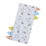 BaaBaaSheepz Bamboo Bed-Time Buddy Case White Small Moon & Sheepz with stripe tag Medium size