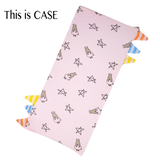 Bed-Time Buddy Case Pink Small Star & Sheepz with stripe tag Small size