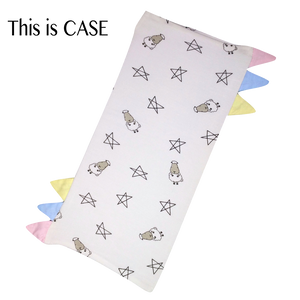 Bed-Time Buddy Case White Small Star & Sheepz with color tag Small size