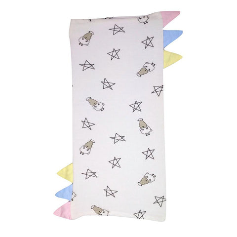 BaaBaaSheepz Bamboo Bed-Time Buddy Case White Small Star & Sheepz with color tag Small size