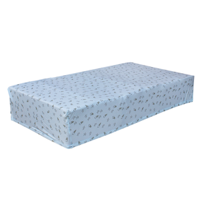 bamboo mattress sheet blue