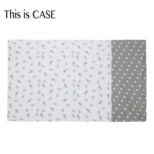 Bed-Time Buddy Case Small Star & Sheepz White + Polka Dot Grey - Adult