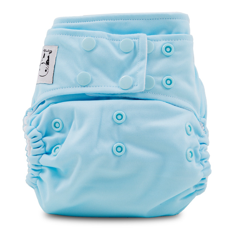 MooMooKow Cloth Diaper One Size Snap - Baby Blue
