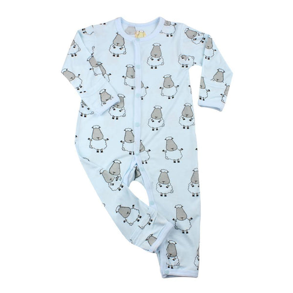 BaaBaaSheepz Bamboo Romper Blue Big Sheepz