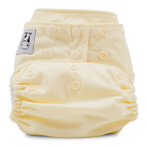 MooMooKow Cloth Diaper One Size Snap - Butter