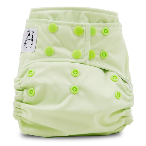 Cloth Diaper One Size Snap - Celery