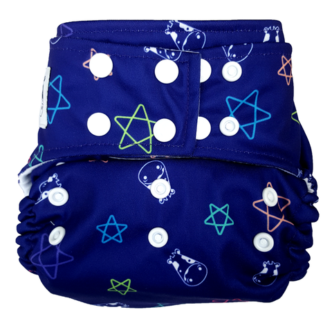 MooMooKow BAMBOO Cloth Diaper One Size Snap - Color Star