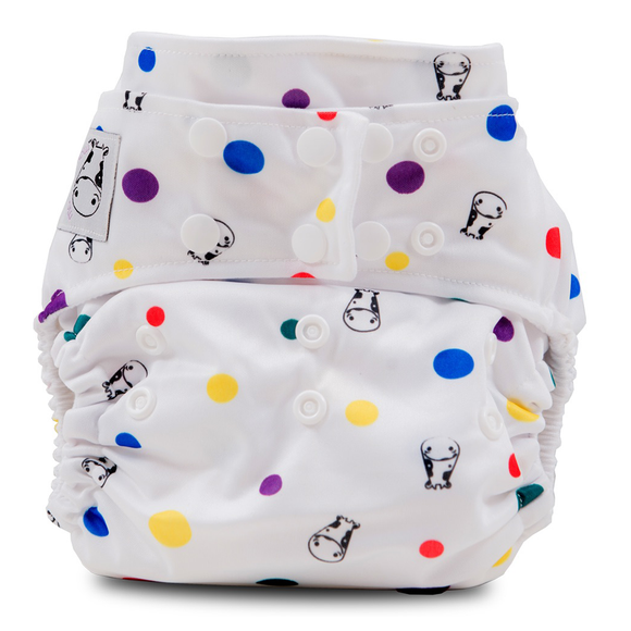 Cloth Diaper One Size Snap - Dot Dot