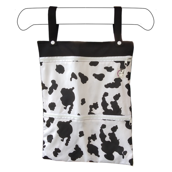 Wet Bag XL - Moo Moo Black