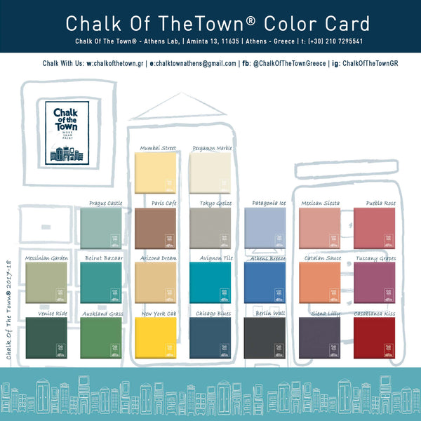Chalk Of The Town® - Color Card