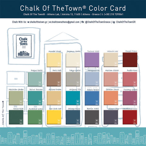 Chalk Of The Town Color Card 2020-2021