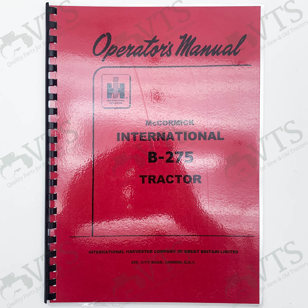 International B-275 Operators' Handbook