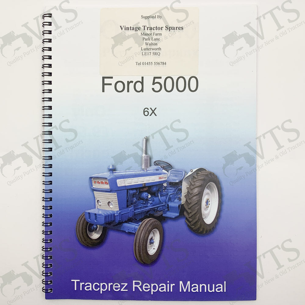 Tracprez Workshop Manual Ford 5000