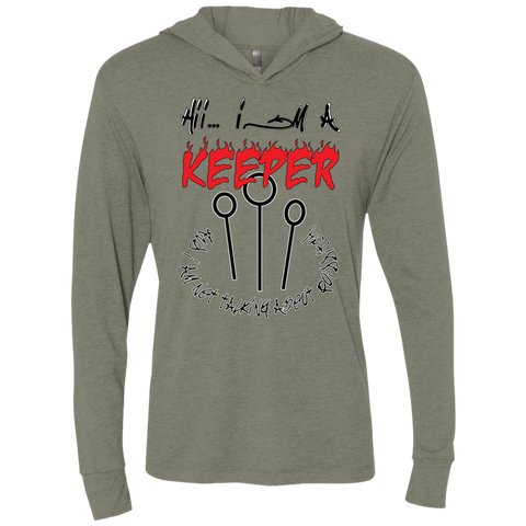 I'm a keeper. Unisex Triblend Hooded T-Shirt-Men Long Sleeves-I Share Guru