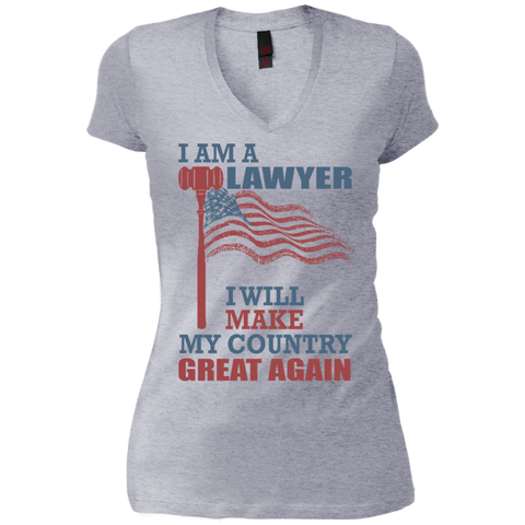 I Am A Lawyer. Junior's Vintage Wash V-Neck T-Shirt-Women T-Shirt-I Share Guru