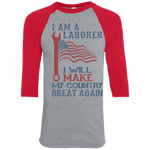 I Am A Laborer. Colorblock Raglan Jersey-Funny, Smart and Inspiration shirts with saying