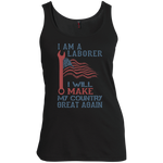 I Am A Laborer. Women's Scoop Neck Tank Top-Funny, Smart and Inspiration shirts with saying