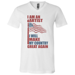 I Am An Artist. Unisex Jersey V-Neck T-Shirt-Funny, Smart and Inspiration shirts with saying