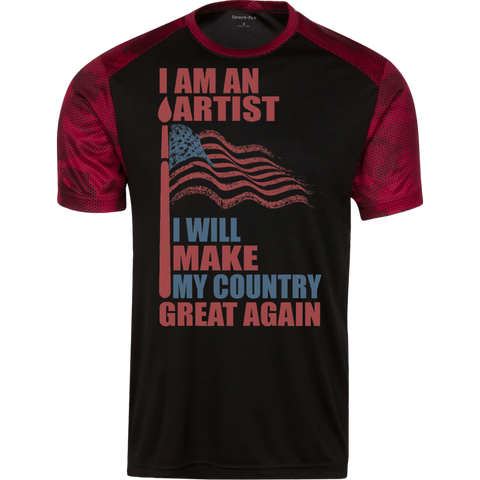 I Am An Artist. Sport-Tek Colorblock T-Shirt-Men T-Shirt-I Share Guru