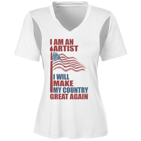 I Am An Artist. Ladies' All Sport Jersey Shirt-Women T-Shirt-I Share Guru