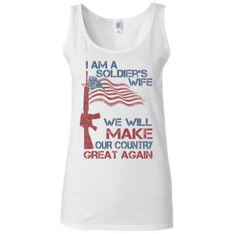 I Am A Soldier's Wife. Ladies' Softstyle Fitted Tank-Women Tank Top-I Share Guru