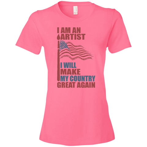 I Am An Artist. Ladies' Lightweight T-Shirt-Women T-Shirt-I Share Guru