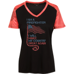 I Am A firefighter. Sport-Tek Ladies' CamoHex T-Shirt-Funny, Smart and Inspiration shirts with saying