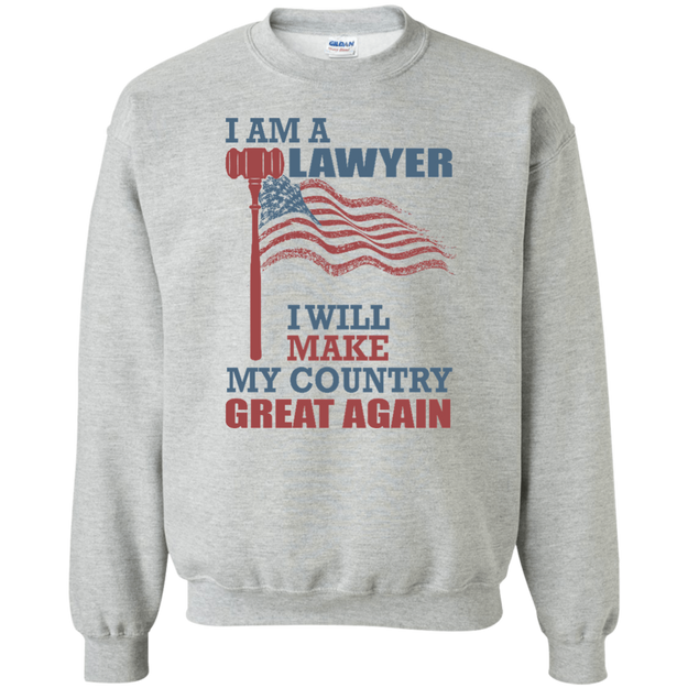 I Am A Lawyer. Crewneck Pullover Sweatshirt-Funny, Smart and Inspiration shirts with saying