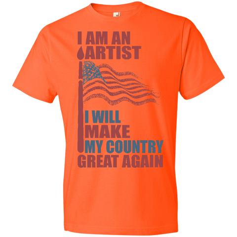 I Am An Artist. Lightweight T-Shirt-Men T-Shirt-I Share Guru