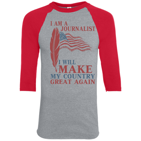 I Am A Journalist. Colorblock Raglan Jersey-Unisex Raglan-I Share Guru