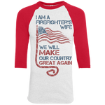 I Am A Firefighter's Wife. Colorblock Raglan Jersey-Funny, Smart and Inspiration shirts with saying