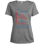 I Am A Laborer. Sport-Tek Heather Dri-Fit Moisture-Wicking Shirt-Funny, Smart and Inspiration shirts with saying