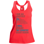 I Am An Artist. Ladies' Shimmer Loop Back Tank-Funny, Smart and Inspiration shirts with saying