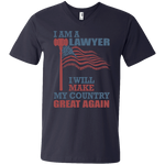 I Am A Lawyer. Men's V-Neck T-Shirt-Funny, Smart and Inspiration shirts with saying