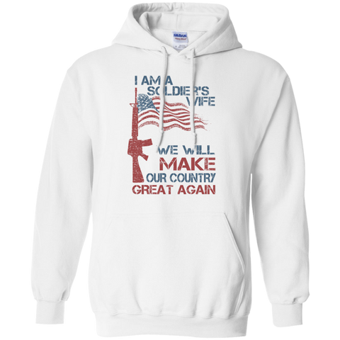 I Am A Soldier's Wife. Pullover Hoodie-Sweatshirts-I Share Guru