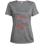 I Am A firefighter. Sport-Tek Heather Dri-Fit Moisture-Wicking T-Shirt-Funny, Smart and Inspiration shirts with saying