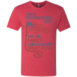 I Am A Firefighter's Wife. Triblend T-Shirt-Funny, Smart and Inspiration shirts with saying