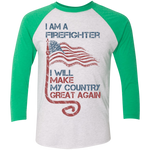 I Am A firefighter. Tri-Blend 3/4 Sleeve Baseball Raglan T-Shirt-Funny, Smart and Inspiration shirts with saying