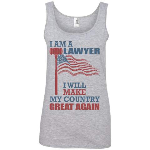 I Am A Lawyer. Ladies' 100% Ringspun Cotton Tank Top-Women Tank Top-I Share Guru