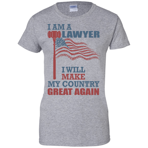 I Am A Lawyer. Ladies' 100% Cotton T-Shirt-Women T-Shirt-I Share Guru