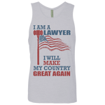I Am A Lawyer. Men's Cotton Tank-Funny, Smart and Inspiration shirts with saying