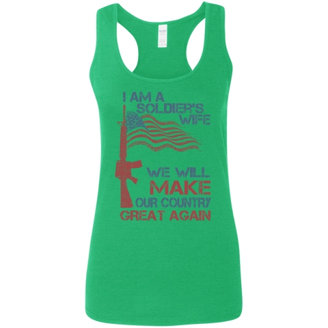 I Am A Soldier's Wife. Ladies' Softstyle Racerback Tank-Women Tank Top-I Share Guru