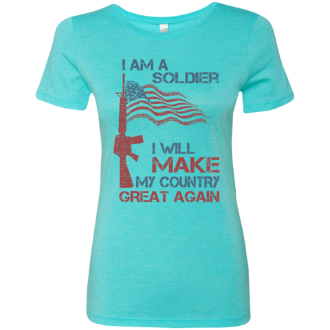 I Am A Soldier. Ladies' Triblend T-Shirt-Women T-Shirt-I Share Guru