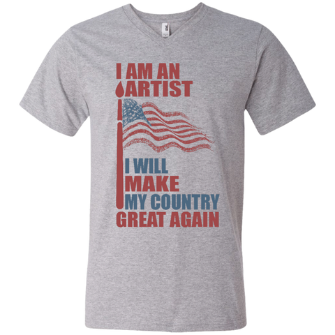 I Am An Artist. Men's V-Neck T-Shirt-Men T-Shirt-I Share Guru