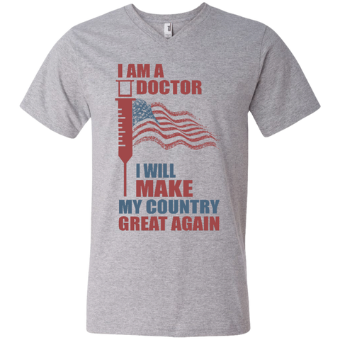 I Am A Doctor. V-Neck T-Shirt-Men T-Shirt-I Share Guru