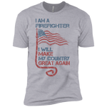 I Am A firefighter. Premium Short Sleeve T-Shirt-Funny, Smart and Inspiration shirts with saying