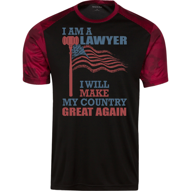 I Am A Lawyer. Sport-Tek CamoHex Colorblock T-Shirt-Funny, Smart and Inspiration shirts with saying