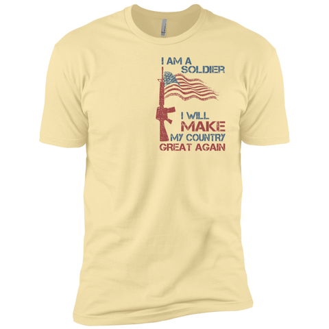 I Am A Soldier. Premium Short Sleeve T-Shirt-Men T-Shirt-I Share Guru